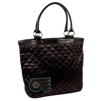 NHL Philadelphia Flyers Sport Noir Quilted Tote Purse, Black