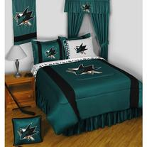 NHL San Jose Sharks 5pc Bed in a Bag Queen Bedding Set