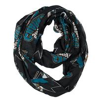NHL San Jose Sharks Sheer Infinity Scarf, One Size, Black