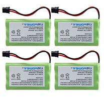 URPOWER® 4 Pcs 3.6V Ni-MH 800mAh Cordless Home Phone