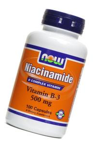 Now Foods Niacinamide 500 Mg, Vitamin B-3 Capsules, 100-Count