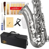 Glory Nickel Silver B Flat Tenor Saxophone with Case,10pc