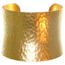 "Nickel Free 2"" Wide Hammered Metal Cuff Bracelet, Quality"