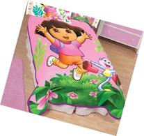 "Nickelodeon Dora the Explorer Jungle Safari 62"" X 90"" Plush"