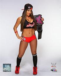 Nikki Bella Divas Championship Belt WWE Posed Studio Photo