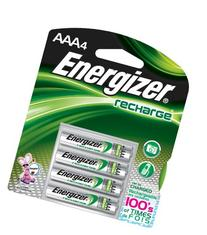 Energizer NiMH Rechargeable Batteries, AAA