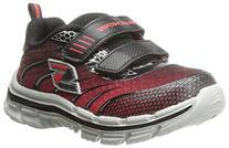 Skechers Kids Boys' Nitrate Running Shoe, Red/Black, 13.5 M