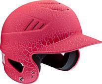 Worth Women's NOCSAE Crackle T-Ball Batting Helmet, Pink, 6