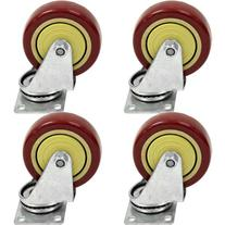"Seismic Audio - 4 Pack of Non-Locking 4"" SWIVEL CASTERS"