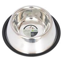 Iconic Pet 2-Cup Non-Skid Stainless Steel Dog Bowl, 16-Ounce