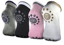Singeek BEST Non Slip Skid Yoga Pilates Socks with Grips