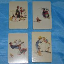 Norman Rockwell 4 Decks SEASONS Sealed Playing Cards SUMMER