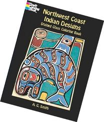 Northwest Coast Indian Designs Stained Glass Coloring Book