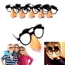 Dazzling Toys Nose, Eyebrows & Mustache Glasses - Pack of 6