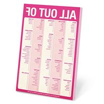 Knock Knock Note Pad, Pink All Out Of