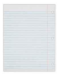 TOPS Notebook Filler Paper, College Ruled, 11 x 8.5 Inches,