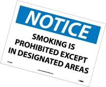 Notice Labels; Smoking Is Prohibited Except In Designated