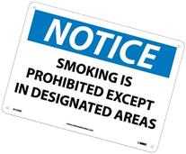Notice Signs; Smoking Is Prohibited Except In Designated