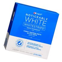 Getting brilliant white teeth used to mean strapping yourself into the dentist's chair. Now there's Crest Noticeably White Whitestrips. Their advanced formula is safe on enamel and ultra-easy to use: just pop on the strips every day and within a few days, you'll have a visibly whiter smile to show off to the world.5/5(8).