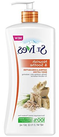 St. Ives Nourish and Soothe Body Lotion, Oatmeal and Shea
