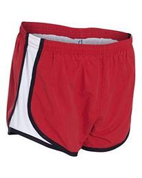 Ladies' Novelty Velocity Running Short - Red/Black/White -