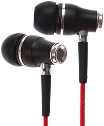 Symphonized NRG Wood Headphones, Red