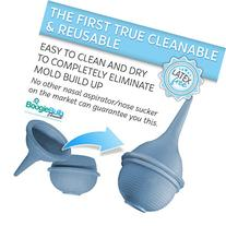 BoogieBulb Baby Nasal Aspirator and Booger Sucker for Newborns Toddlers & Adult - BPA Free - Blue 2 Ounce Bulb Syringe - Safe Nose Cleaner - Cleanable