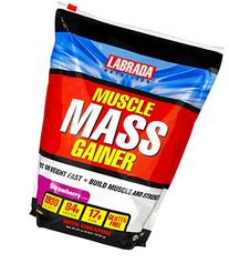 Labrada Nutrition Muscle Mass Gainer, Strawberry, 6 Pound