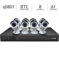Swann 16 Channel HD NVR Security System with 3TB HDD and 8