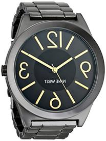 Nine West Women's NW/1585GNGN Gunmetal Bracelet Watch
