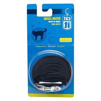 Catit Nylon Cat Leash with Gold-Plated Bolt Snap, Black