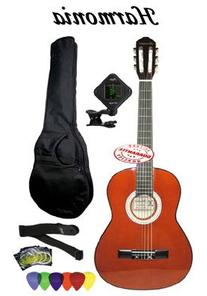 Harmonia Nylon String Guitar Full Size Natural With Bag Set