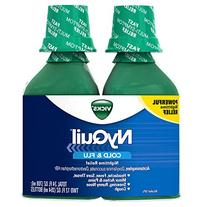 Vick NyQuil Cough Cold and Flu Nighttime Relief, Original
