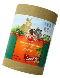 Kaytee Tube O' Hay Plus Carrot Large 6-Inch, 4-oz tube