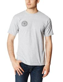 Brixton Men's Oath T-Shirt, Heather Grey, Large