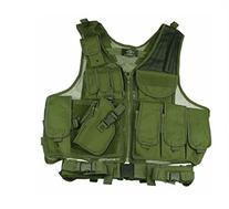 OD Green Deluxe Tactical Vest With Holster