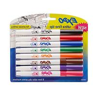 EXPO Low-Odor Dry Erase Markers, Ultra Fine Tip, Assorted