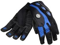 OEM Yamaha Full Finger Watercraft Riding Gloves Blue X-Small