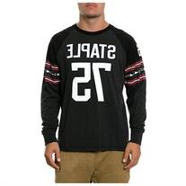 Staple Mens The Offense LS Embellished T-Shirt