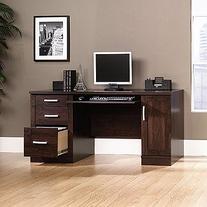 Office Port Computer Credenza in Abbey Oak Finish