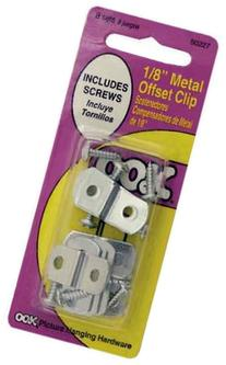 OOK 50227 1/8-Inch Offset Clip with Hardware