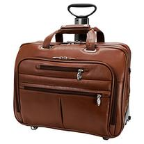 McKleinUSA OHARE 86534 Brown Leather Fly-Through Checkpoint-