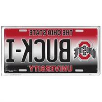 Ohio State BUCK-I Metal License Plate