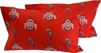 Ohio State Printed Pillow Case -  - Solid by College Covers
