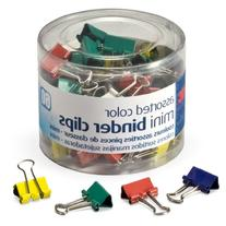 OfficemateOIC Mini Binder Clips, Assorted Colors, 60 Clips