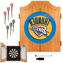 Oklahoma City Thunder NBA Wood Dart Cabinet Set