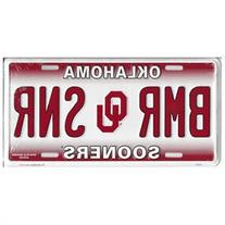 Oklahoma Sooners BMR SNR Metal License Plate