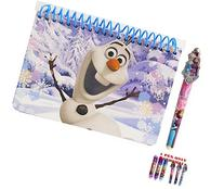 Disney Frozen Olaf The Snowman Spiral Autograph Book and 1