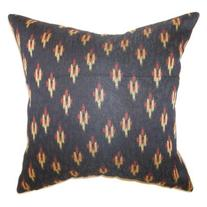 The Pillow Collection Olbia Geometric Pillow - Black