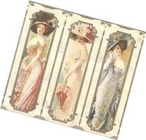 Wallpaper Old Fashioned Victorian Ladies on Cream